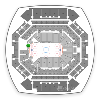 New York Islanders at Barclays Center Section 1 View