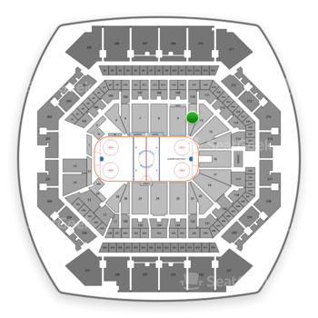 New York Islanders at Barclays Center Section 10 View