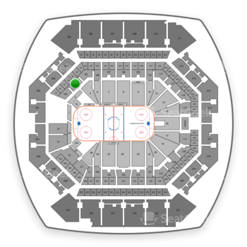 New York Islanders at Barclays Center Section 104 View