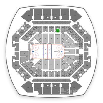 New York Islanders at Barclays Center Section 109 View