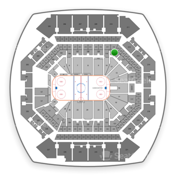 New York Islanders at Barclays Center Section 111 View