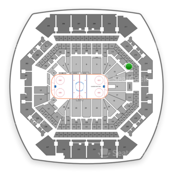 New York Islanders at Barclays Center Section 114 View