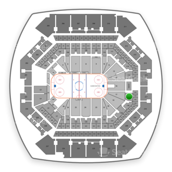 New York Islanders at Barclays Center Section 117 View