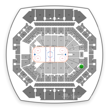 New York Islanders at Barclays Center Section 118 View