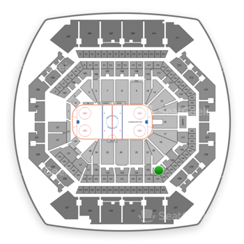 New York Islanders at Barclays Center Section 121 View