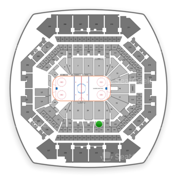 New York Islanders at Barclays Center Section 123 View