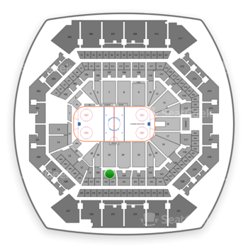 New York Islanders at Barclays Center Section 125 View