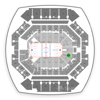 New York Islanders at Barclays Center Section 17 View