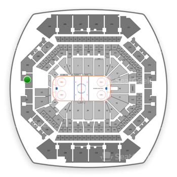 New York Islanders at Barclays Center Section 201 View