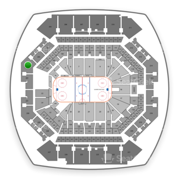 New York Islanders at Barclays Center Section 202 View