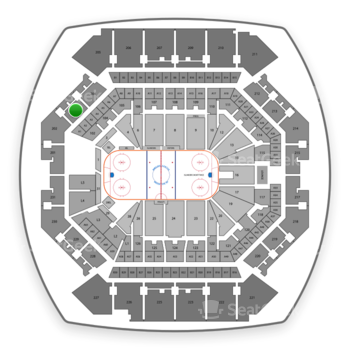 New York Islanders at Barclays Center Section 203 View