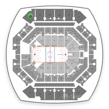 New York Islanders at Barclays Center Section 205 View