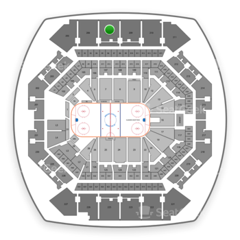 New York Islanders at Barclays Center Section 207 View