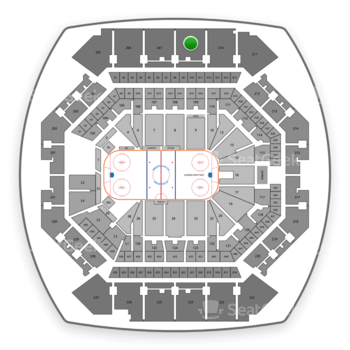 New York Islanders at Barclays Center Section 209 View