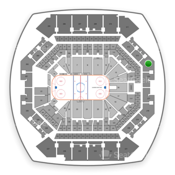 New York Islanders at Barclays Center Section 214 View