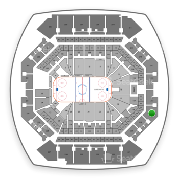 New York Islanders at Barclays Center Section 218 View