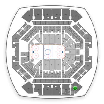 New York Islanders at Barclays Center Section 221 View