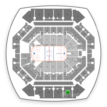 New York Islanders at Barclays Center Section 222 View