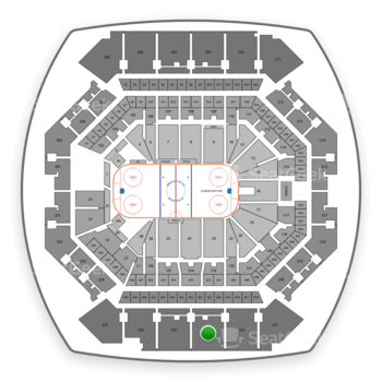 New York Islanders at Barclays Center Section 223 View