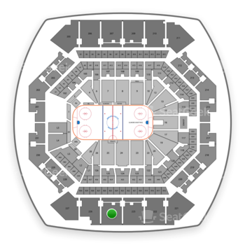 New York Islanders at Barclays Center Section 225 View