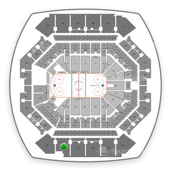 New York Islanders at Barclays Center Section 226 View