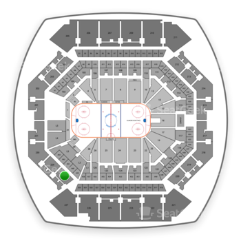 New York Islanders at Barclays Center Section 228 View