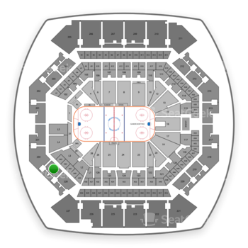 New York Islanders at Barclays Center Section 229 View