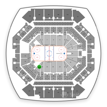 New York Islanders at Barclays Center Section 28 View