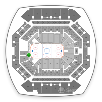 New York Islanders at Barclays Center Section 31 View