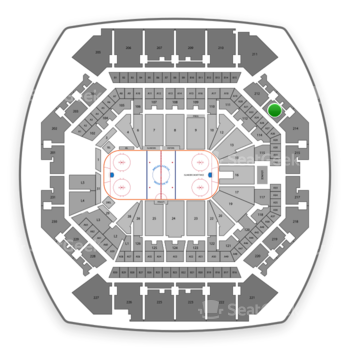 Sports at Barclays Center Section 213 View