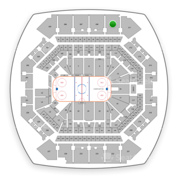 New York Islanders at Barclays Center Section 210 View