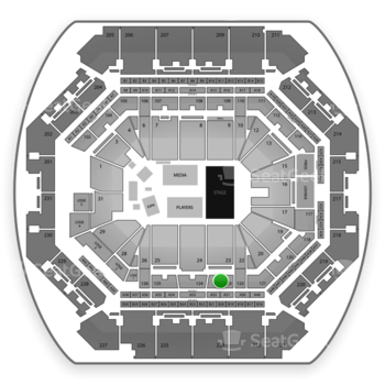 NBA Draft at Barclays Center Section 123 View