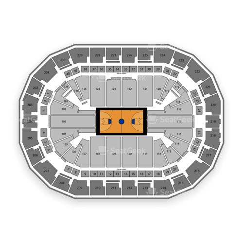 Save Mart Center Seating Chart & Map | SeatGeek  Map Of Grizzlies Stadium In Fresno on