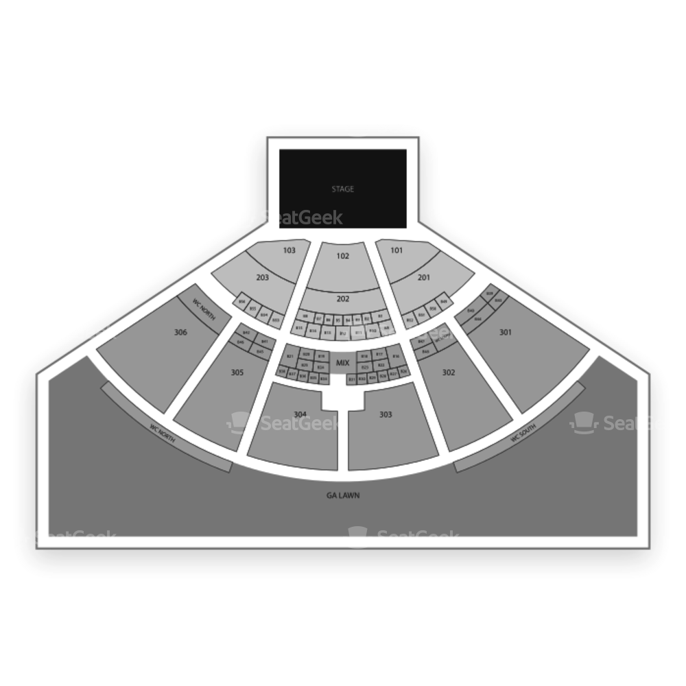 USANA Amphitheatre Seating Chart Concert