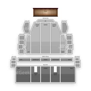 Proctors Theatre Seating Chart Literary
