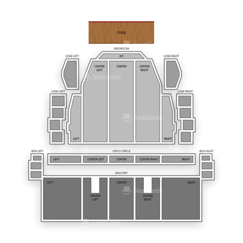 Proctors Theatre Seating Chart Theater