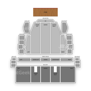 Proctors Theatre Seating Chart Family