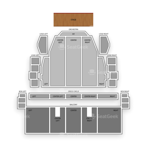 Proctors Theatre Seating Chart Concert