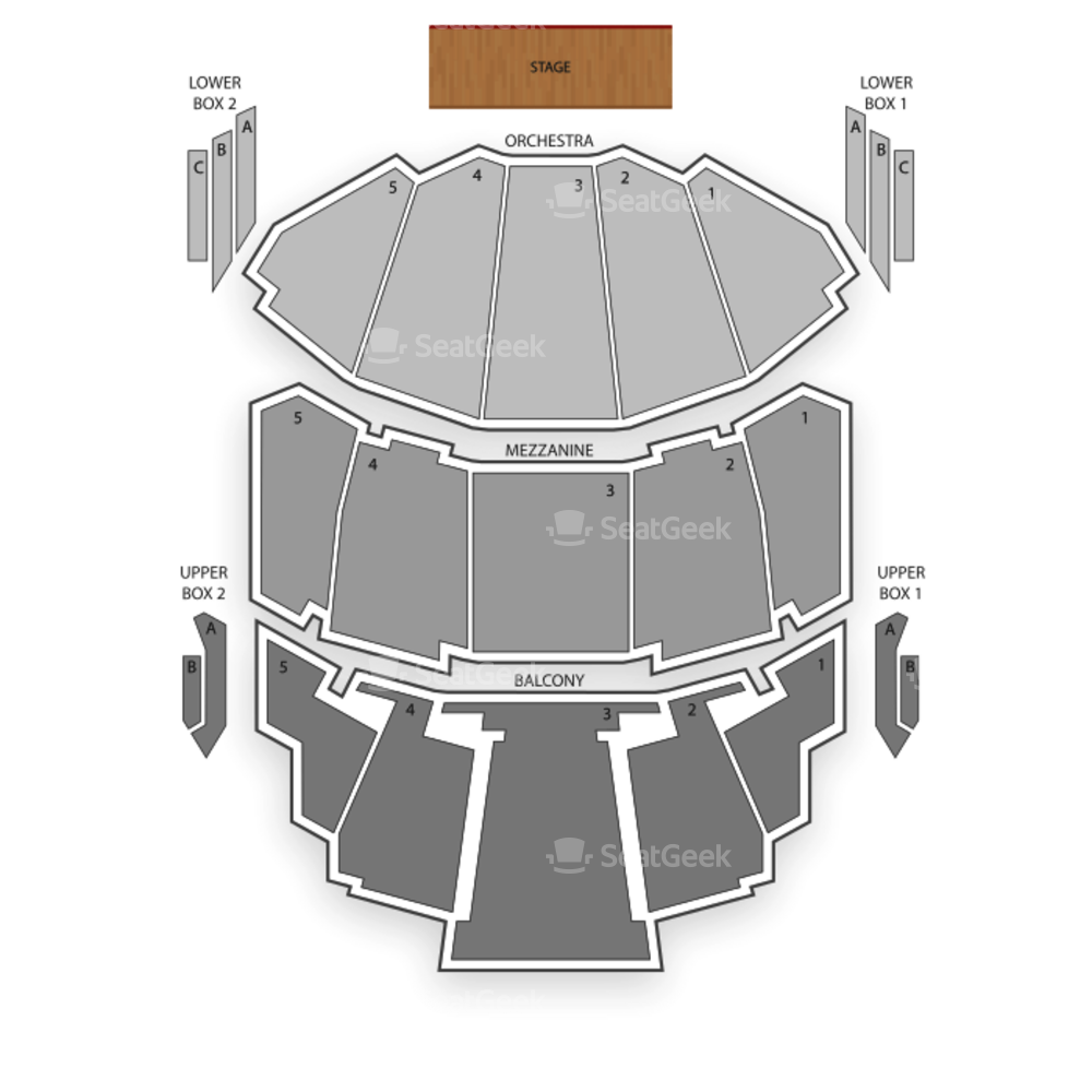 Milwaukee Theatre Seating Chart Concert