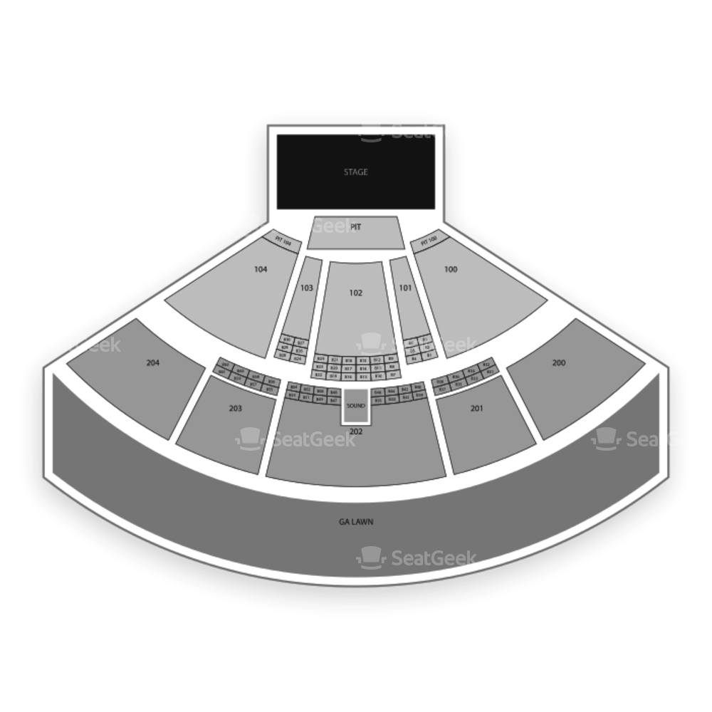 BB&T Pavilion Seating Chart Music Festival