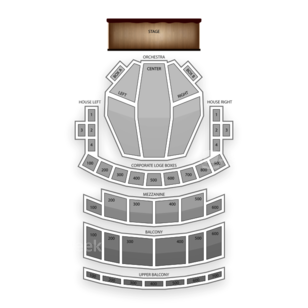 Connor Palace Theatre Seating Chart Concert