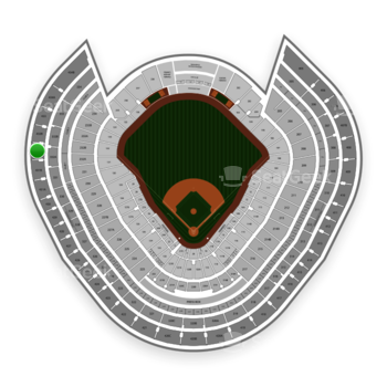 New York Yankees at Yankee Stadium Grandstand Level 432 A View