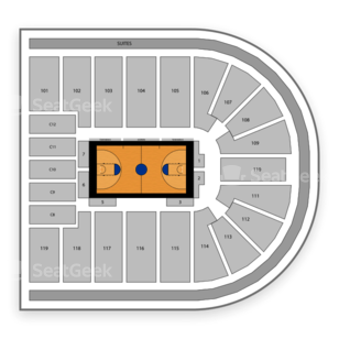 Orleans Arena Seating Chart NCAA Womens Basketball