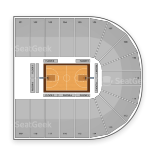 Orleans Arena Seating Chart NCAA Basketball