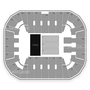 EagleBank Arena Seating Chart Concert