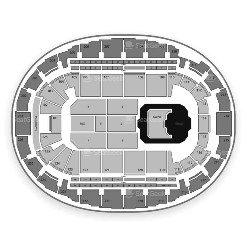 SNHU Arena Seating Chart Concert