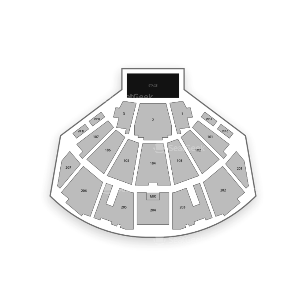 Ovation Hall at Ocean Resort Casino Seating Chart Concert