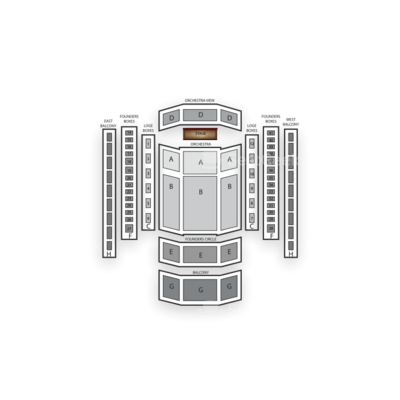 Schermerhorn Symphony Center seating chart Bernadette Peters