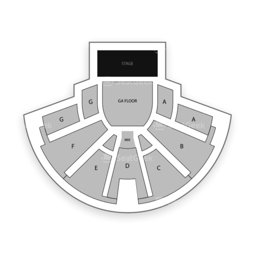 Center Stage Theater Seating Chart Concert