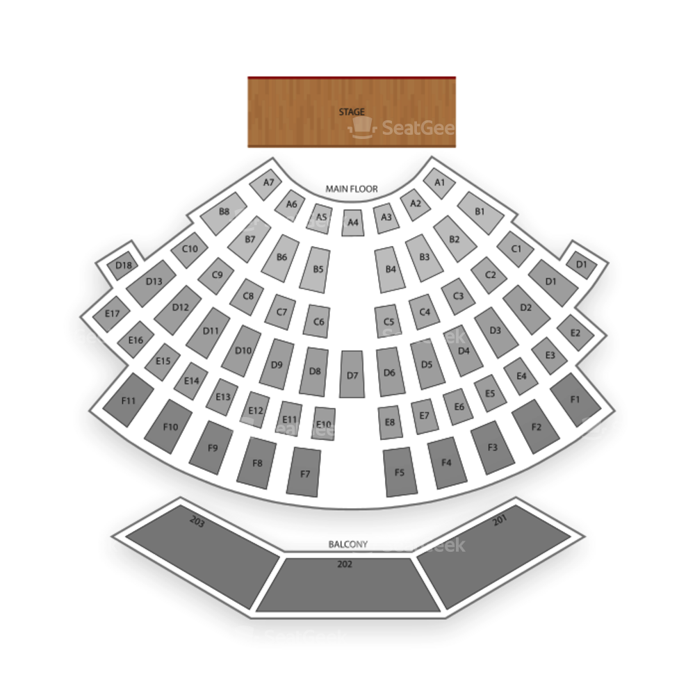 Upstate Concert Hall Seating Chart Concert